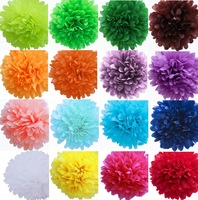 "6"" inch 15cm 10 pcs/lot Tissue Paper Pom-poms Flower Ball Wedding Party Outdoor Hanging Decoration Free Shipping"