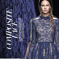 Royal blue cotton lace sexy heavy lace fashion cloth