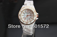 2014 new design hot sale watch , with Japan imported PC21 quartz movement,ceramic band, plastic case,100pcs/lt freshipping