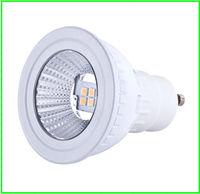 Free shipping 6pcs/lot High bright efficient great heat dispersion gu10 led spot lighting smd 4000K