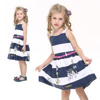 Nova Kids Girl Dress Brand New  2014 Summer White Tutu Girl Party Dress Character Cute Waistband Girl's Dresses Retail H4068