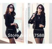 2014 winter slim thickening knitted long-sleeve plus size one-piece dress plus velvet basic skirt female XXL XXXL