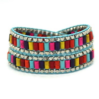 Mix Color Women Bracelet, 38 cm 2 Laps Can Adjust!Fashion Cool Women Bracelets & Bangles!