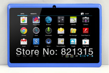 2014 7″ tablet pcs 1024*600 HD capacitive touch Rockchip RK3026 dual core Q88 Android 4.1 Cortex A8 Bluetooth wifi dual camera
