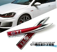 2014 VW GOLF 7 golf gti modified fender side mark logo sticker GTI red standard decoration standard