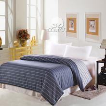 2014 new 100% cotton light blue stripe japan style comforter bedding bag quilt/duvet cover 160*210cm(China (Mainland))