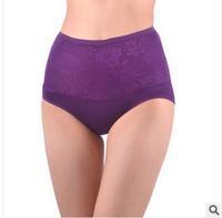 Free shipping new 2014 Home Furnishing women The waist abdomen underwear breathable dear skin cotton panties