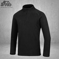 51783 Men casual outdoor breathable thermal thickening fleece clothing stand collar tad outdoor jacket liner