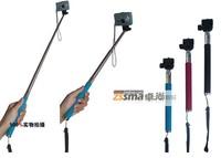 Special wholesale 110cm long self-shelf portable handheld camera frame telescopic rod travel necessary 2pcs/lots