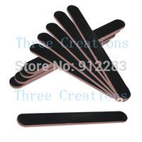 Free Shipping 10 pcs Slim Crescent Grit Sandpaper Nail Files Buffer Buffing, Professional Nail Files #75073