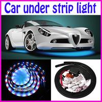 "4pcs set 7 color Undercar Lights RGB Under car Neon Light Kit  Wireless Remote controller (48""x2 + 36"" x2) led decorative strip"