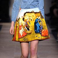 Free Shipping 2014 New Summer Skirts Fashion Short Skirt Women Clothing Vintage Painting Print Novelty Casual Saia Plus Size