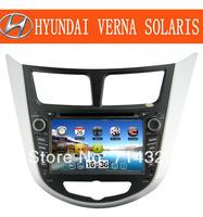Hot ! Car DVD for Hyundai Verna Solaris I25 with Russian MEMU GPS radio bluetooth ATV iPod AM/FM