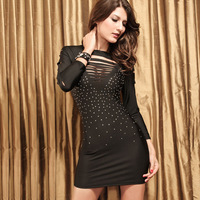 New Fashion Sexy Ladies' dress,Charming sleeved dress evening club dress Free shipping LC2366 3XXL party dress