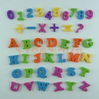 3cm 42 pieces English alphabet + Number fridge magnets Early Educational toy Colorful Cartoon Fridge Free Shipping