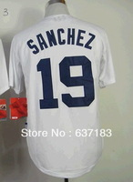 2014 Cheap Mens Detroit #19 Anibal Sanchez Home White Cool Base Baseball Game Sport Jersey.Embroidery Numbers