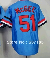 2014 Cheap Mens St.Louis #51 Willie McGee Blue 1982 Throwback Baseball Game Sports Jersey.Embroidery Logo Name m-xxxl