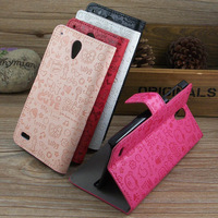 Flip PU Magic Girl Leather Case For Lenovo S890 Case Stand Style