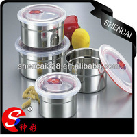 5pcs 410 Stainless Steel keep fresh preservation storage box