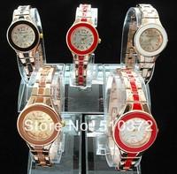 10pcs/lot brand new watches beautiful Design round Dial Bracelet wristWatches Time Quartz L6 for Women Lady's girls hot sales