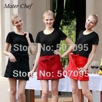 Free Shipping fashion women apron hotel apron work aprons short aprons