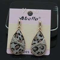 Bela A008391E - 001 wei ni hua new set auger leopard grain Allergy earring ornaments