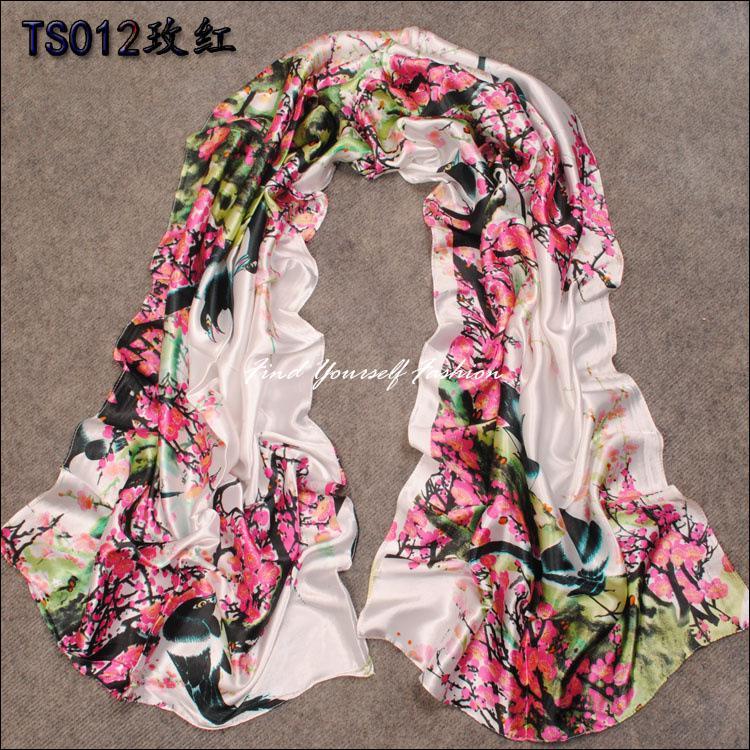 mulheres quentes longo parágrafo lenço de seda verão, outono e inverno feminino lenços xale decorativos aplicável(China (Mainland))