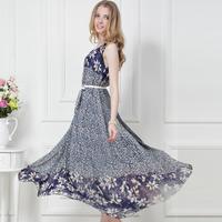 Summer Dress Special Offer Seconds Kill Empire Chiffon None Vestido De Festa 2014 Flowers Vest Dress One-piece Expansion Bottom
