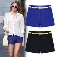 Size S-XXXL New Summer Big Size Slim Casual Shorts Pants,Fashion Women Black/Blue Holiday Street Shorts Free Shipping LJ816