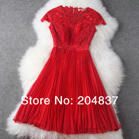 new arrival 2015 spring and summer handmade beading embroidered pleated evening dress formal dress party dress