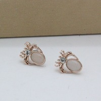 Wei ni hua V043273E - 002 Spiders are the cat's eye earrings stud earrings adorn article
