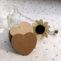 7.7 * 7 cm Kraft paper heart-shaped label Clothing tag Blank paper card Word cards identification card Handmade tag 500pcs