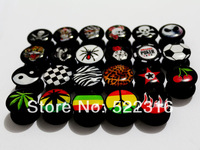 free shipping internaly thread ear body piercing logo picture mix sizes ear plugs body jewelry ear tunnel