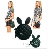 Handbags 2014 new Korean cartoon cute bunny ears mj bag rivets round mini candy Quilted shoulder bag Messenger bag small sachet