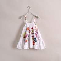 2014 summer new  the girl dress with shoulder-straps colorful childhood dream have age 2-7 years ols