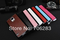 50pcs/lot Luxury leather PU hard case for S5,Business Chrome Retro Skin Style Hard Case For Samsung Galaxy S5 G900 +Freeshipping
