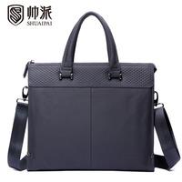 Commercial man bag male genuine leather handbag fashion cross-body one shoulder briefcase horizontal spt1327
