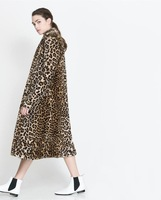 Leopard Fur Coat Winter And Spring 2014 Fashion Plus Size Fur Coat Free Shipping HDY-3