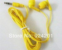 100pcs/lot,Hot sale Stock goods Coloful Fashionale Candy In-earphone Headphone 110CM Stereo headphone