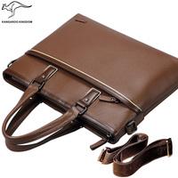 Kangaroo male bag man handbag commercial genuine leather computer briefcase fashionable casual male messenger bag