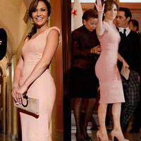 Dropshipping Women Square Collar Full Zipper Sleeveless Party Casual Pencil Knee-Length Dress S-XL