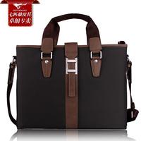 Septwolves computer man bag commercial handbag male genuine leather briefcase messenger bag shoulder bag male