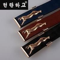 Free Shipping Flying Leopard metal buckle men's leather belt  mens fashion belt A148