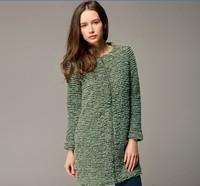 Fashion winter 2014 high quality elegant woolen overcoat outerwear female Y27