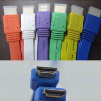 5M V1.4 Flat HDMI Cable M to M For BLURAY 3D DVD PS3 HDTV XBOX 360 FREE SHIPPING BY DHL OR FEDEX