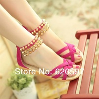 Free shipping  2014 the new summer sandals Bohemia tassel women's shoes