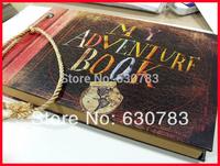 free shipping 19x29.5x2.5cm Photo album (My adventure book) pixar up film adventure book Loose-leaf Photo Album