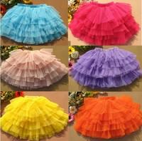 Free Shipping 2014 New Girls Skirts Beautiful Lace Skirts Fashion Cake Tutu Skirts  LG5230CH