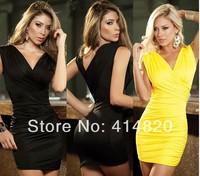 2014 New Fashion Women Slim Dress Nightclub Sexy Bodycon Mini Dress