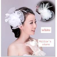 The bride hair accessory wedding dress hair accessory feather flower